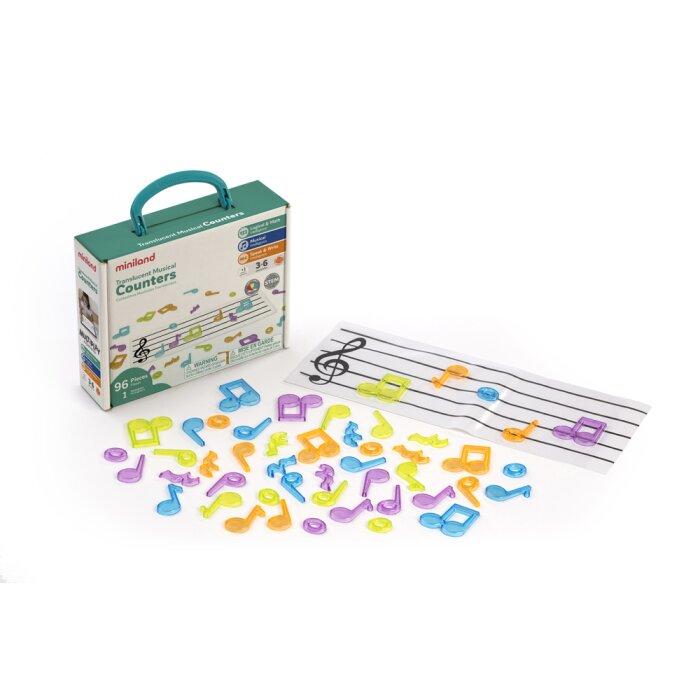 transparante muzieknoten miniland - Leuke muziek activiteiten met kinderen